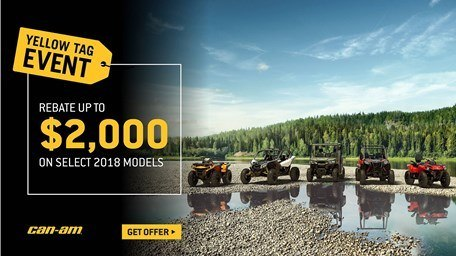 Can-Am - Yellow Tag Event - Maverick X3, Maverick, Outlander, Renegade, Commander and DS Model Rebates